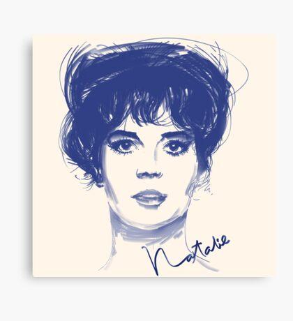 Natalie W. movie star Canvas Print