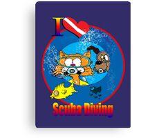 I Love Scuba Diving Canvas Print