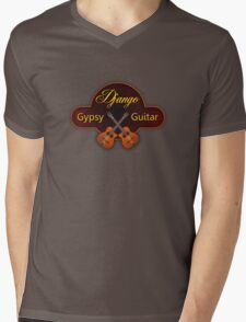 Django Gypsy guitar Mens V-Neck T-Shirt