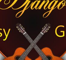 Django Gypsy guitar Sticker