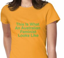 This Is What An Australian Feminist Looks Like (Classic Green & Gold) Womens Fitted T-Shirt