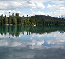 Lake in Jasper, Canada by Melissa Coulter