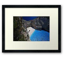 Zakynthos shipwreck beach  Framed Print