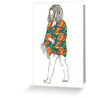 Little girl in a dress Greeting Card