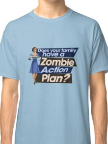 Zombie Action Plan Classic T-Shirt