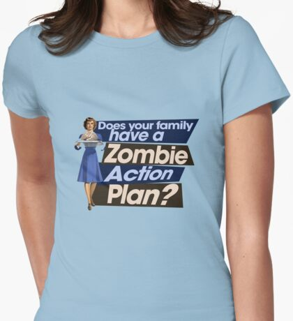 Zombie Action Plan Womens Fitted T-Shirt