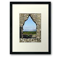 Kilmacduagh church arch view Framed Print