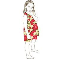 Little girl in a dress Photographic Print