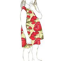 Little girl in a dress by OlgaBerlet