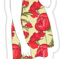 Little girl in a dress Sticker
