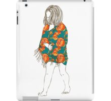 Little girl in a dress iPad Case/Skin