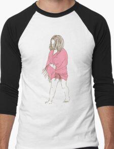 Little girl in a pink dress Men's Baseball ¾ T-Shirt