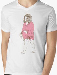Little girl in a pink dress Mens V-Neck T-Shirt