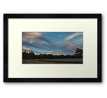 Skylines at Dusk Framed Print