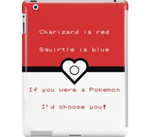 Pokemon inspired valentine. iPad Case/Skin