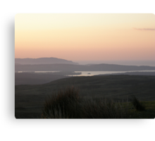 soft evening light - Towards Downings Donegal Canvas Print