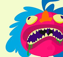Ugly pink dude by FernBerl