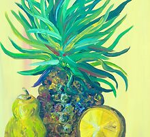 Pear and Pineapple by EloiseArt