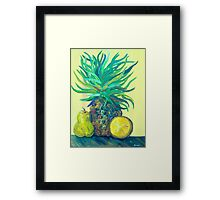 Pear and Pineapple Framed Print