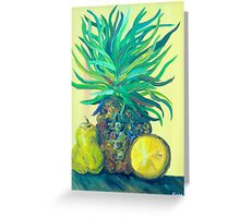 Pear and Pineapple Greeting Card