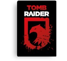 Tomb Raider Eagle (white text) Canvas Print