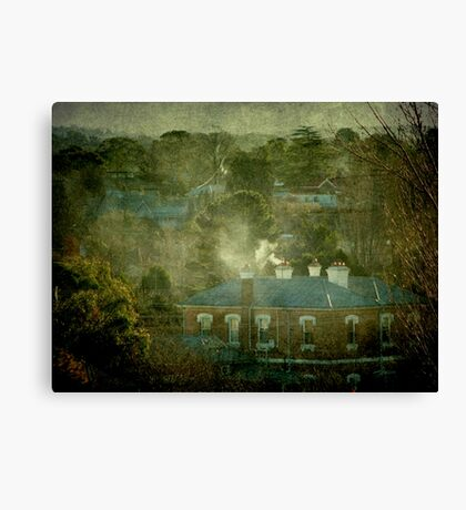 A Winter's Afternoon in Town - Uralla, NSW, Ausralia Canvas Print