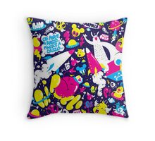 Dirty space Throw Pillow