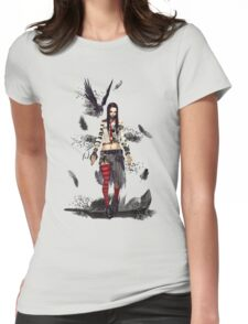 The Raven Girl Womens Fitted T-Shirt