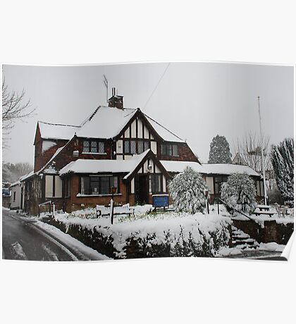 Oxted RBL in the snow Poster