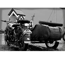 BMW Cycle & Sidecar Photographic Print