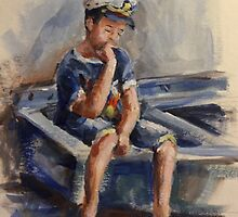 The pensive sailor.... by Ivana Pinaffo