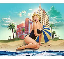 Marilyn Monroe - In South Beach Photographic Print