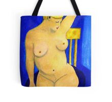 Nude La Douche oil painting Tote Bag