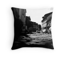 Cobbled way Throw Pillow