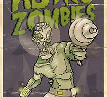 Astro Zombie by mingmonger
