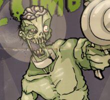 Astro Zombie Sticker