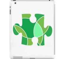 Green puzzle piece iPad Case/Skin