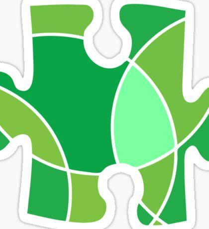 Green puzzle piece Sticker