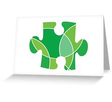 Green puzzle piece Greeting Card
