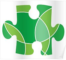 Green puzzle piece Poster