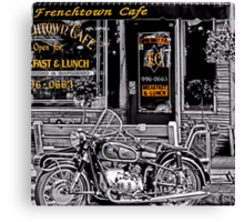 Frenchtown Cafe Canvas Print