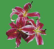 Three Stargazer Lilies Kids Tee
