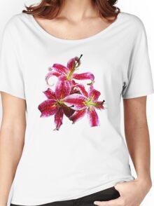 Three Stargazer Lilies Women's Relaxed Fit T-Shirt