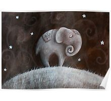 Sleeping Elephant Poster