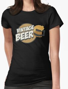 Vintage Beer Womens Fitted T-Shirt
