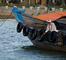 Fisherman in Hoi An, Viet Nam by Matthew Stewart
