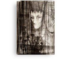 portrait of Lydia and friend Metal Print