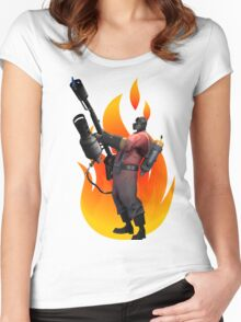 Pyro, Let the burns begin!! Women's Fitted Scoop T-Shirt