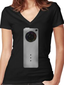 Photographer Shirts - Concept Camera Slim Women's Fitted V-Neck T-Shirt