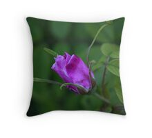 Rose bud in the shade Throw Pillow